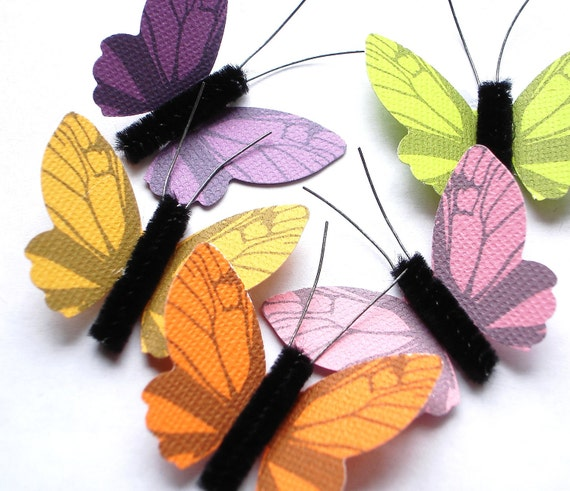 5 Classic Butterfly embellishments - No50