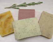 Your Choice Any Four Cold Process Soaps Scented with Essential Oils Combo Pack