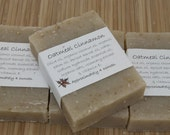 Oatmeal Cinnamon Soap Set of Four 4 oz Bars - aprilshowerssoaps