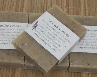 Lavender Woods Soap Set of Four 4 oz Bars