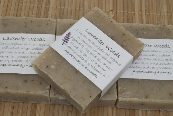 Lavender Woods Soap Set of Four 4 oz Bars