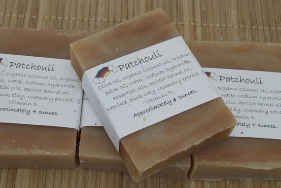 Patchouli Soap Set of Four 4 oz Bars