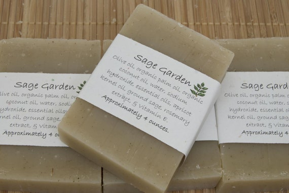 Sage Garden Soap Set of Four 4 oz Bars