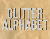 DIGITAL GLITTER ALPHABET / Ideal for Scrapbooking and Graphic Design Projects