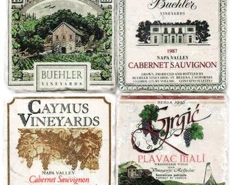 Stone Coasters, Vintage Wine Labels