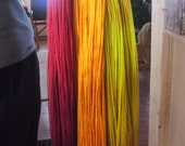 Tangerine Bulky Weight Hand Dyed Wool Yarn