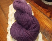 Wool Yarn- Hand Dyed Worsted Weight - Lilac