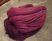 Bold Violet Hand Dyed Bulky Weight Wool Yarn