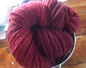Barn Red Hand Dyed Worsted Weight Wool Yarn