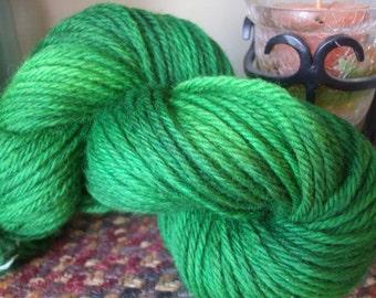 Dark Green Kettle Dyed Bulky Weight Yarn