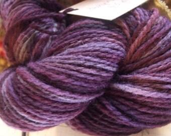 Purple Plum Bulky Weight Hand Dyed Wool Yarn