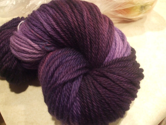 Lilac Hand Dyed Bulky Weight Wool Yarn