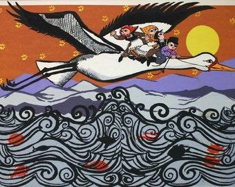 Flights of Fancy: Fly Stork    by Barbara Fernekes Hughes