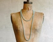 Flapper Necklace // Vintage Faux Pearl Strand