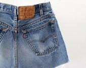 Vintage Levis Cut offs / 80s Jean Shorts