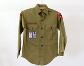 1970s Boy Scouts Shirt // Vintage Official BSA shirt
