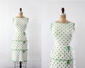 1950s Polka Dot Dress // Vintage Wiggle Dress