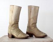 SALE Vintage Frye Boots / Campus Boots /  Men's Boots Size 10