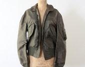 70s Bomber Jacket // Vintage Army Jacket