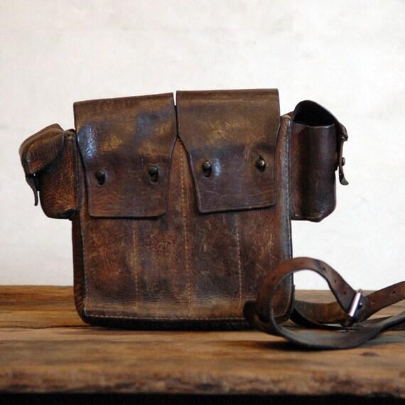 Vintage Swedish Army Ammunition Bag // Army Life
