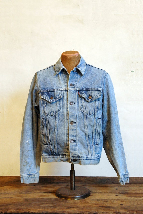 Levis Denim Jacket // 1980s American Jean Jacket // Large