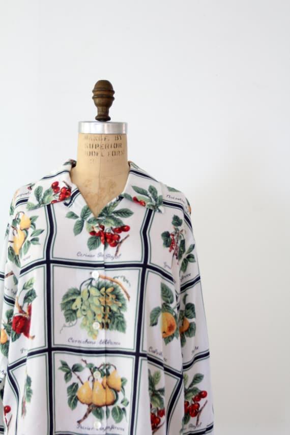 Vintage Esprit Shirt // Summer Garden Print Blouse