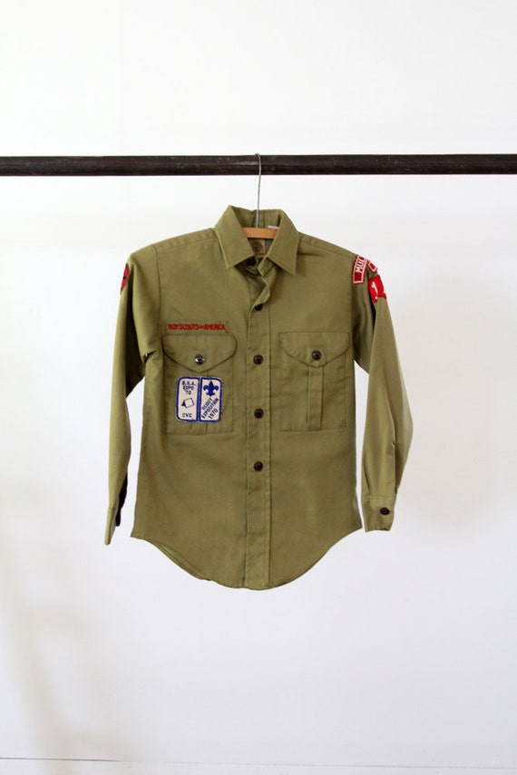 1970s Boy Scouts Shirt // Vintage Official BSA shirt