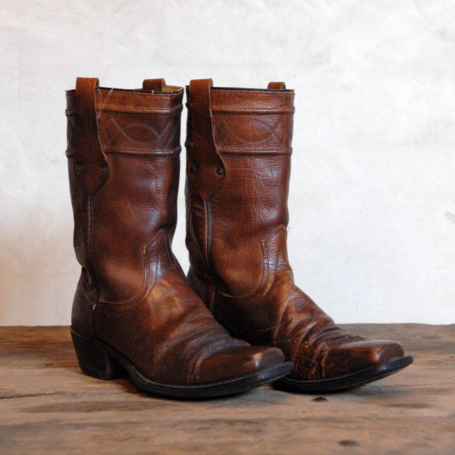 wrangler vintage motorcycle boots s 10 5