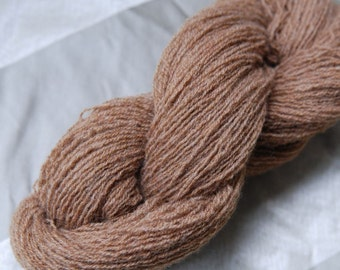 100%  pure lambswool, Medium Brown, Lace Weight, 565 yards Total, Upcycled Yarn