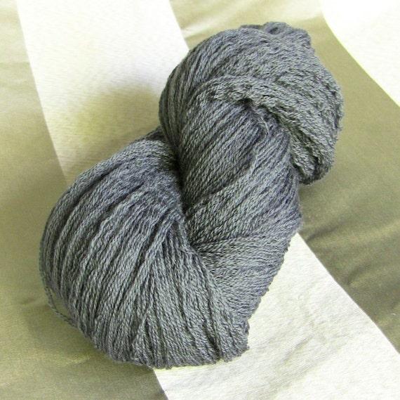 Extrafine Merino Wool Recycled Yarn, Grey, Fingering Weight, 360 yards