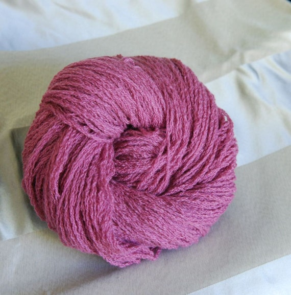 Pure Cashmere, Wine Color, Hand Plied, Sport to Worsted Weight, 255 yards, Upcycled Yarn