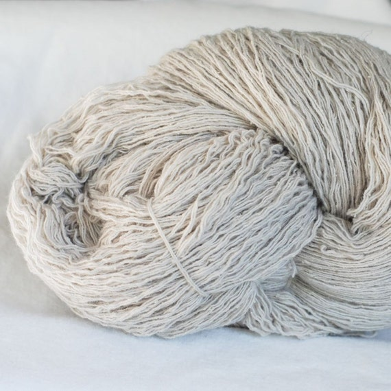Silk Lambswool Recycled Yarn, Taupe, Worsted Weight, 533 yards