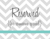 RESERVED Listing for Stacy