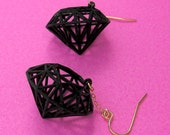 Wireframe Diamond Earrings (black)