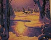 SALE START  a tradtion SANTA leaves a book Vintage A Christmas Treasury book  Greg Hildebrandt illustrated 1984