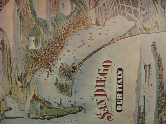 Southern Cal & San Diego, The Glory Years, 1964, Hrdcpy, Over 100 illus, MAPS, full color oil paintings,  sepia drawings,  Coffee table book