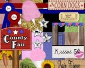 Fair Time Digital Scrapbooking Kit