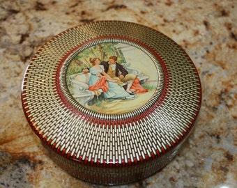 Vintage round tin