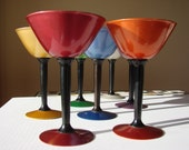 7 Perma Hue Martini Glasses