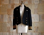 vintage 80s marching band jacket  l/xl