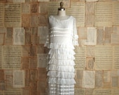 vintage 20s tiered tulle bridal dress s