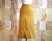 vintage 60s mustard wiggle skirt  xs/s