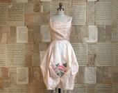 vintage 50s pink silk organza dress