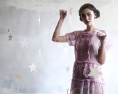 reserved// vintage 20s lilac organdy garden dress