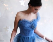 vintage 50s tulle garden gown s