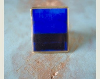Rothko Blue Ring: Adjustable