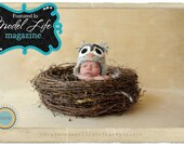 Newborn Bird nest Photo Prop-Large Owl Nest Newborn Infant Photography Prop
