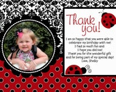 Little Lady Bug - Made to Match Thank You Note