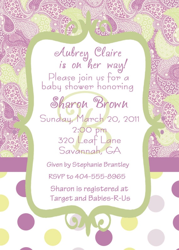 items similar to sweet pea a customizable baby shower invitation on