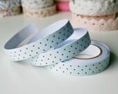 Paste Bluel Polka Dots Fabric Tape